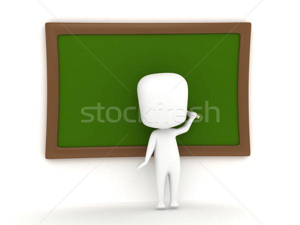 Writing Blackboard Stock photo © lenm