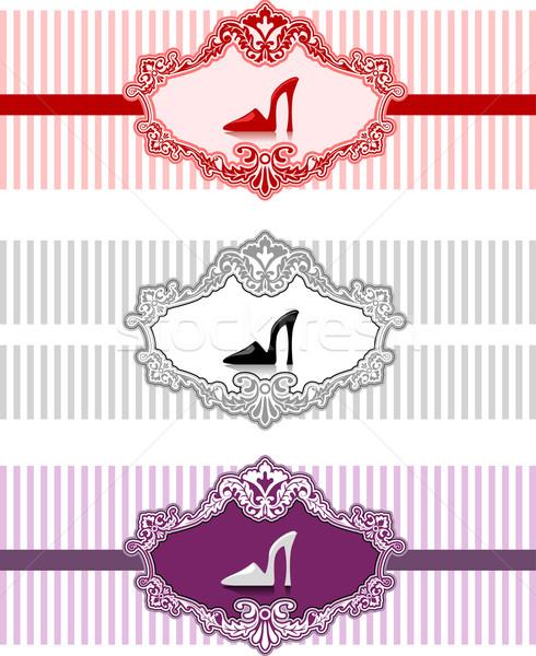 Web Banner Baroque Frame Stock photo © lenm