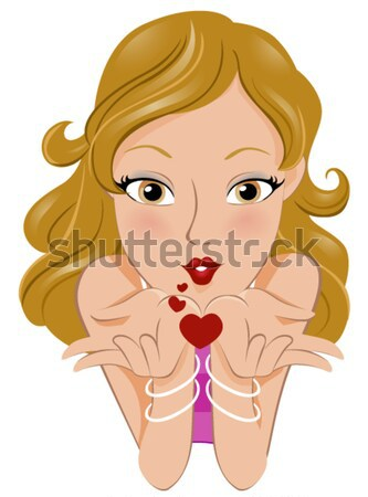 Sutyen kız örnek kadın iç çamaşırı iç çamaşırı Stok fotoğraf © lenm