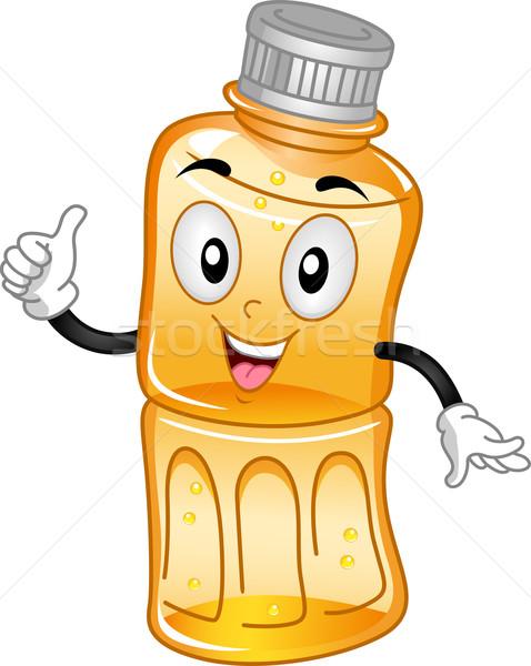 Stok fotoğraf: Meyve · suyu · maskot · örnek · şişe · içmek · karikatür