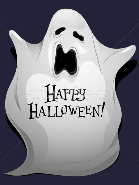 Fantasma halloween ilustración escrito diseno Foto stock © lenm