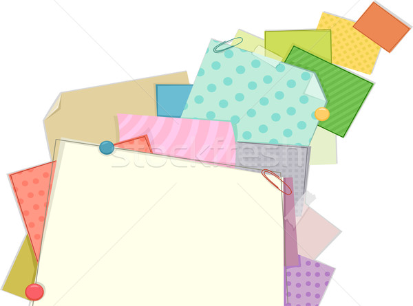 Patterned Paper Frame Background Stock photo © lenm