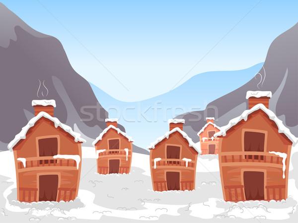 Ski Village Stock photo © lenm