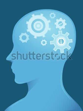 Brain Cogwheels Stock photo © lenm