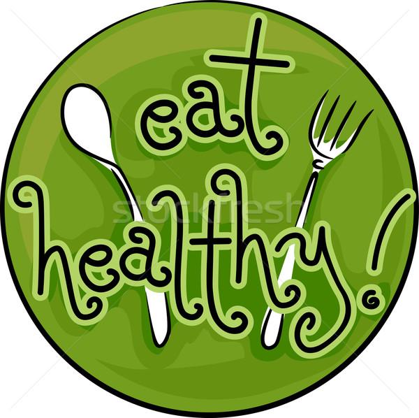 食べる 健康 アイコン 実例 健康食 ウェブサイト ストックフォト © lenm