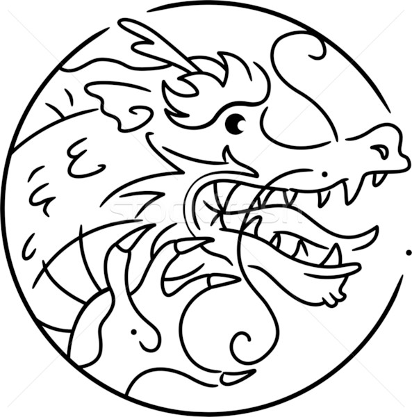Stock photo: Year of the Dragon
