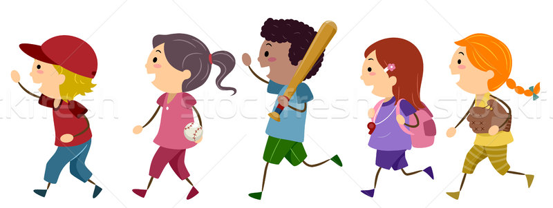 Baseball Kids Stock photo © lenm