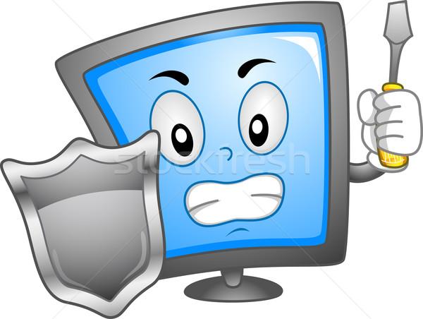 Computer Mascot Stock photo © lenm