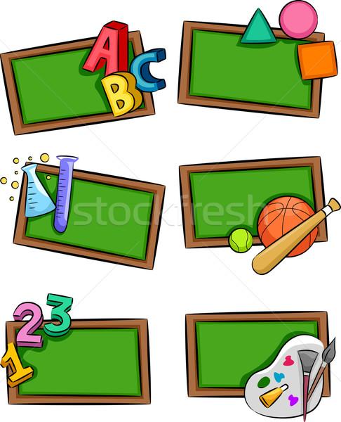School Subjects Icons Stock photo © lenm