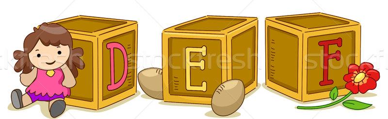 Wood Blocks DEF Stock photo © lenm