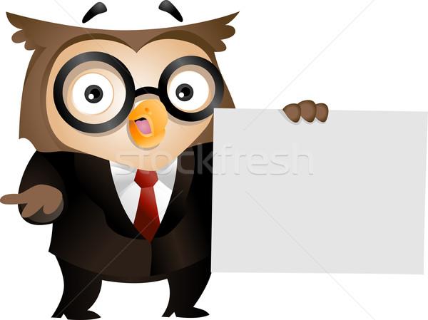 Owl Paper Stock photo © lenm