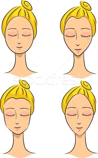 顔 実例 女性 異なる デザイン ストックフォト © lenm