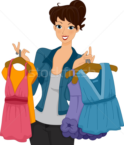 Shopper Girl Stock photo © lenm