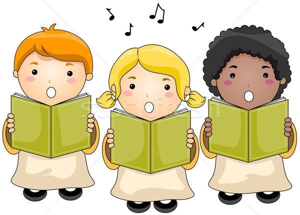 Ninos coro ninos iglesia grupo Foto stock © lenm