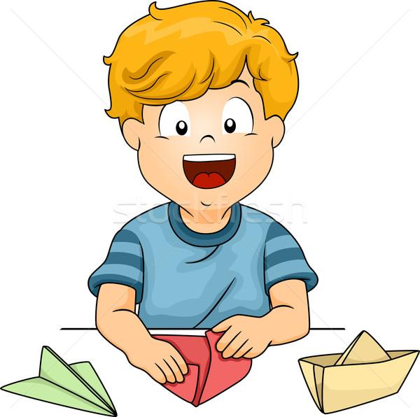 Paper Folding Stock photo © lenm