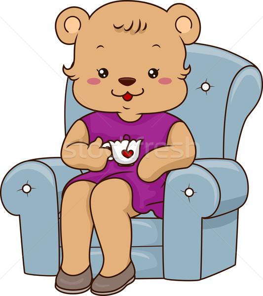 Mommy Bear Teatime Stock photo © lenm