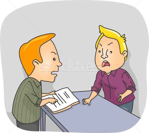 Trabajo argumento ilustración dos hombres documento Foto stock © lenm