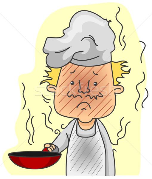 Burned Chef Stock photo © lenm