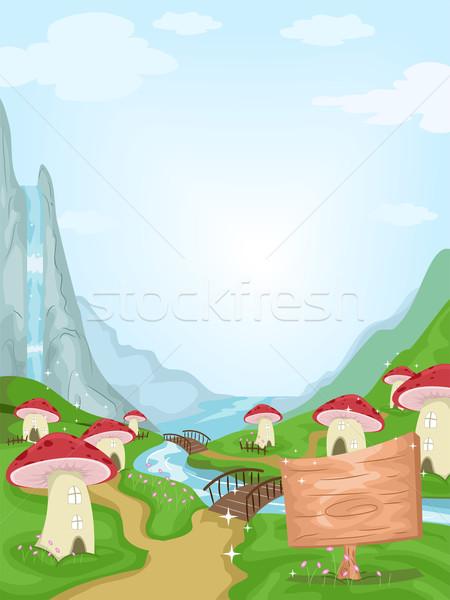 Mushroom Village Stock photo © lenm