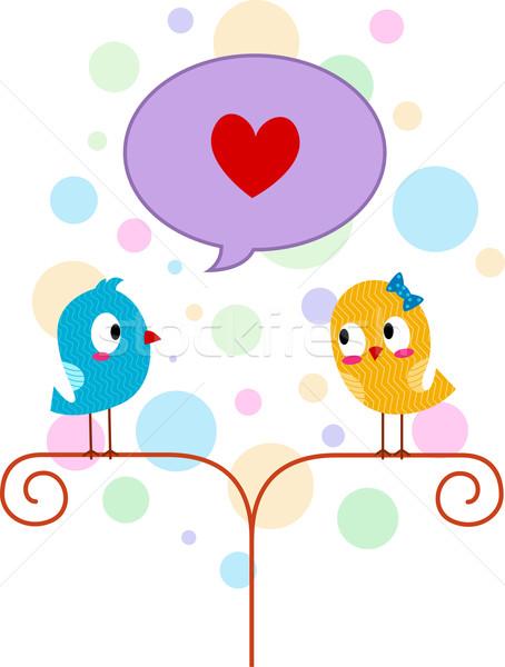 Lovebird Professing His Love Stock photo © lenm