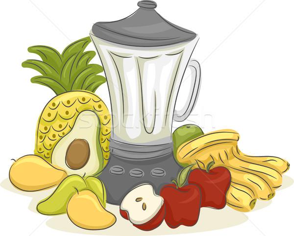 Fruits Blender Stock photo © lenm
