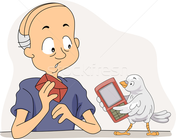 Technologically Challenged Stock photo © lenm