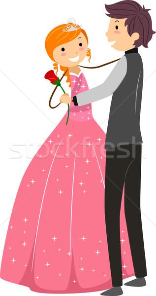 рождения Dance иллюстрация танцы женщину вечеринка Сток-фото © lenm