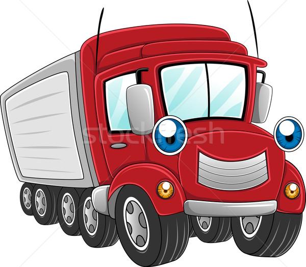 Trailer Truck Stock photo © lenm