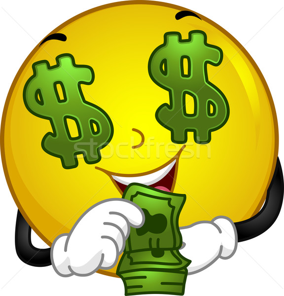 money loving smiley vector illustration  u00a9 lenm   1765128  stockfresh Funny Money Cartoons funny money clip art free