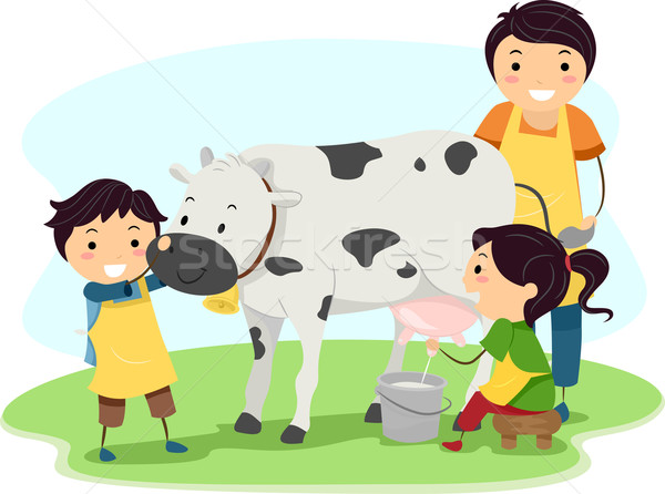 Milk Kids Stock photo © lenm