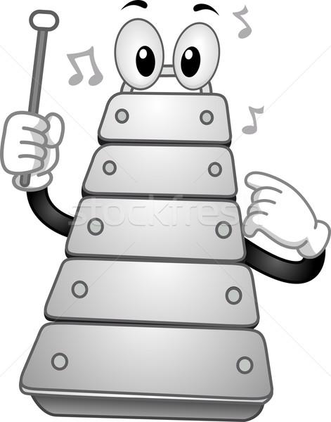 Xylophone Mascot Stock photo © lenm