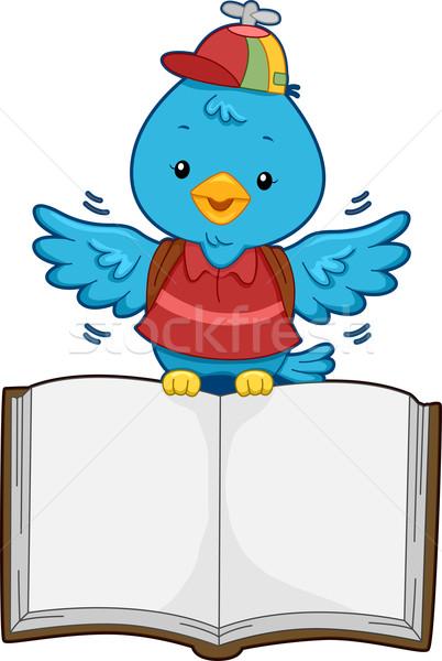 Bird with Open Book Stock photo © lenm