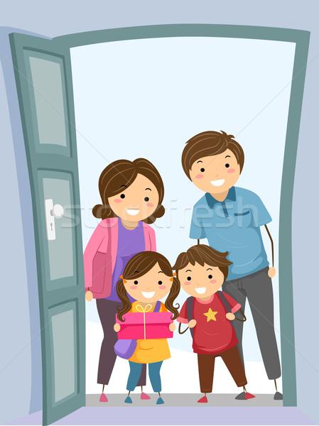 Family Visit Stock photo © lenm