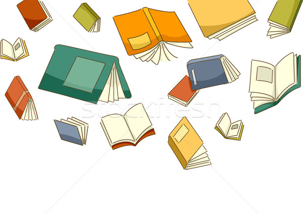 Falling Books Stock photo © lenm