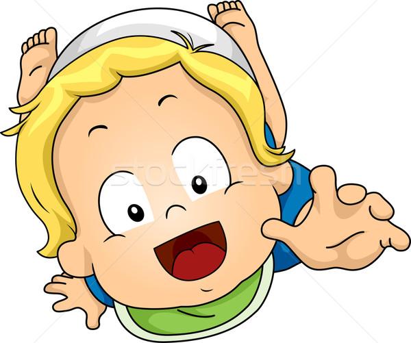 Kúszás baba illusztráció ki kezek digitális Stock fotó © lenm