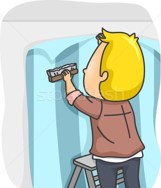 Wallpaper Installer Stock photo © lenm