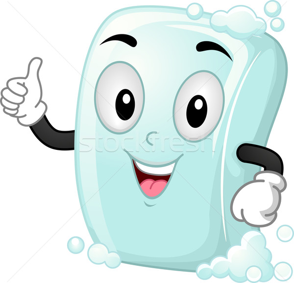 Mascot Soap Stock photo © lenm