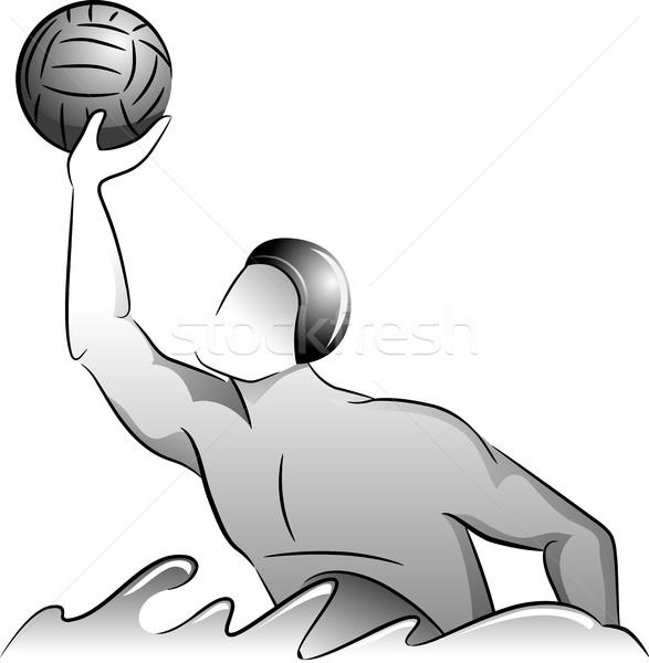Adam spor sutopu oyuncu örnek dijital Stok fotoğraf © lenm