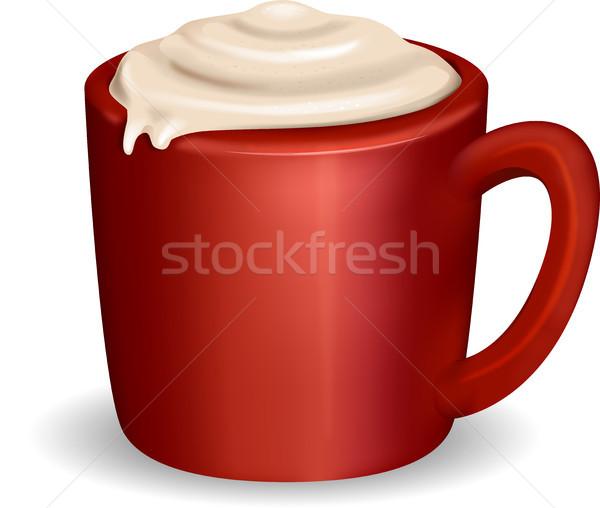 Coffee Cappuccino Overflow Stock photo © lenm
