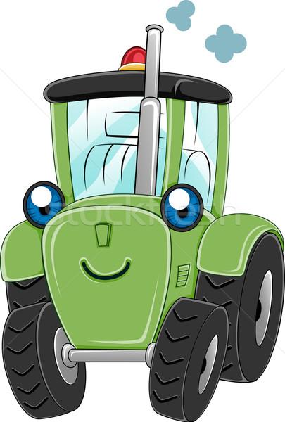Tracteur illustration heureux ferme machine génie Photo stock © lenm