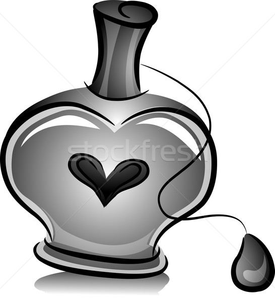 Bottle of Perfume with Ball Spray  Stock photo © lenm