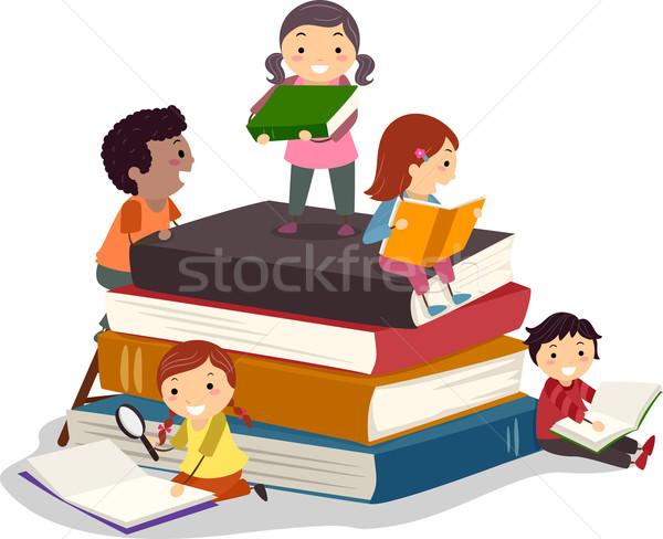 Bookworms Stock photo © lenm