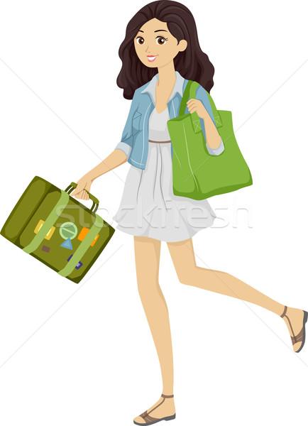 Green Traveling Stock photo © lenm