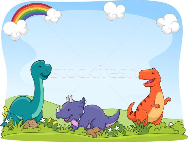 Dinosaur Background Stock photo © lenm