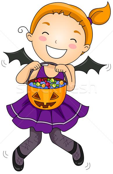 Bat Girl Stock photo © lenm
