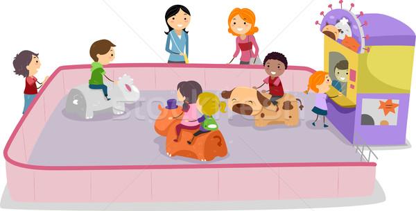 Dudorodás illusztráció gyerekek játszanak gyerekek gyermek fiú Stock fotó © lenm