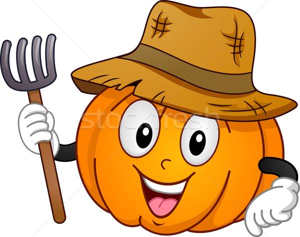 Pumpkin Mascot Stock photo © lenm