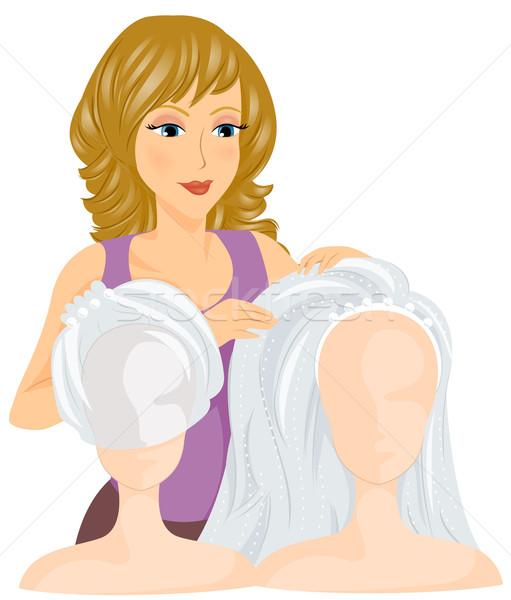 свадьба вуаль невеста девушки женщины Сток-фото © lenm