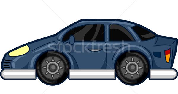 Blue Car Stock photo © lenm