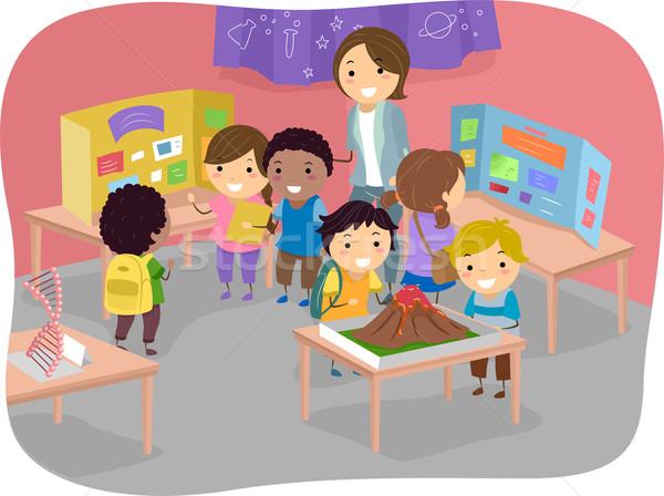 науки справедливой дети иллюстрация школы студент Сток-фото © lenm